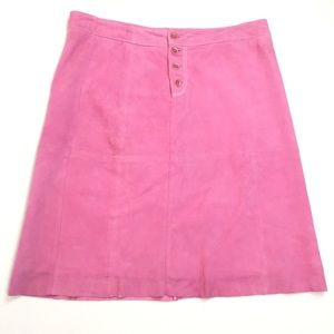 Lilly Pulitzer Lamb Suede Pink Skirt